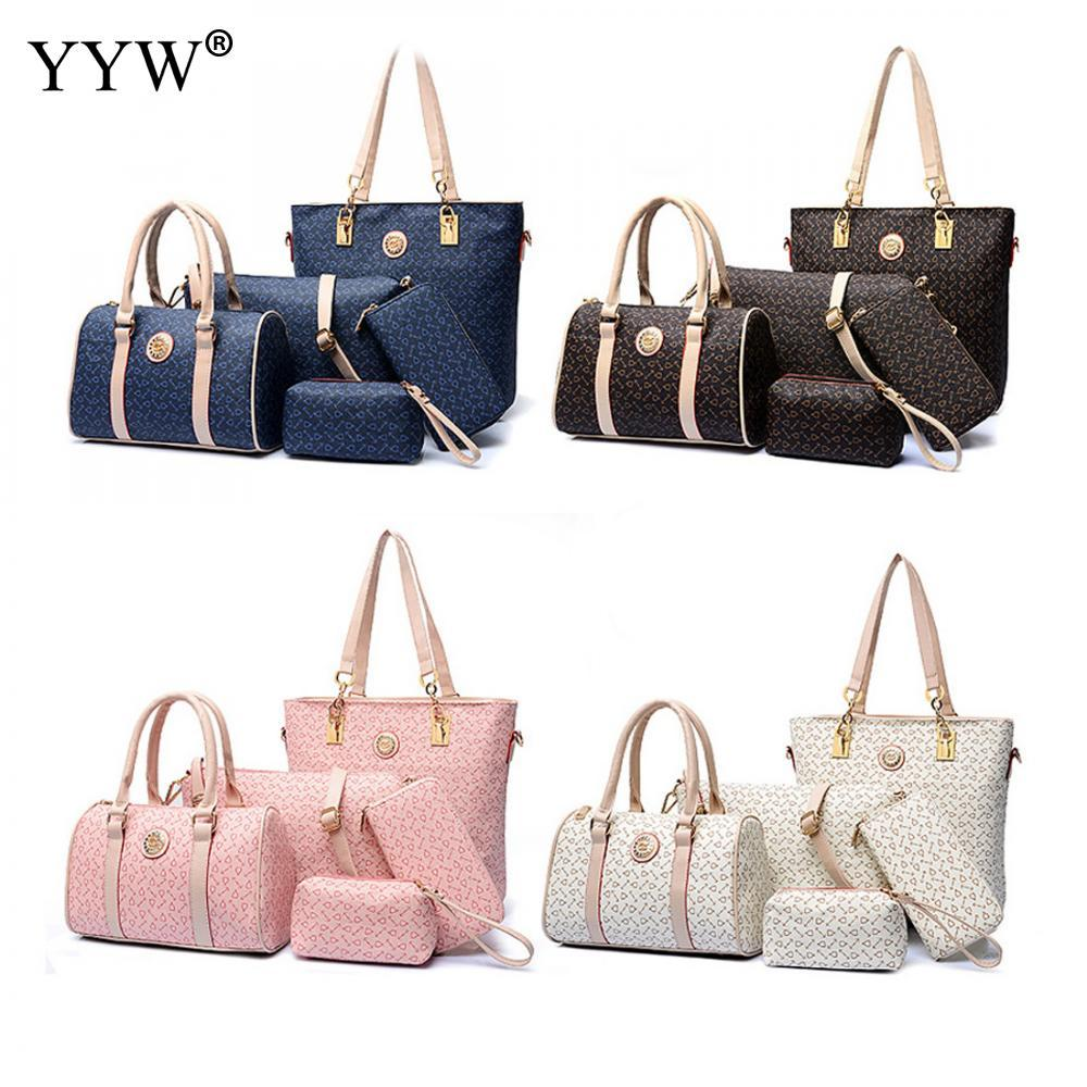 092aadf4618f PU Leather Handbags Women Bag Set Brands Shoulder Messenger Bag Lady s Top  Handle Bags Tote Clutch Womens Pouch Ladies Bags Backpack Purse From  Creeative