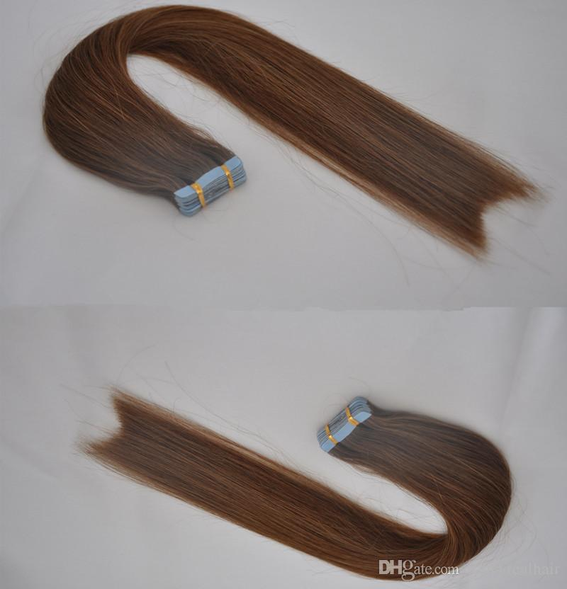 Elibess Brand Good Quality Double Sides Color 7tape In Skin Weft
