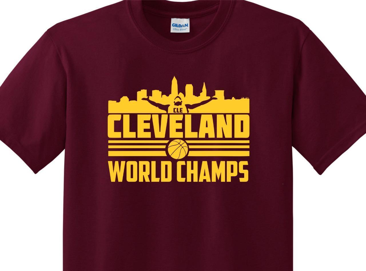 on sale 12f0a be502 Details Zu CLE Cavs WORLD CHAMPS Tee Shirt Cavaliers Lebron James Cleveland  Basketball NEW Funny Unisex Casual Fun T Shirt Buy Online T Shirts From ...
