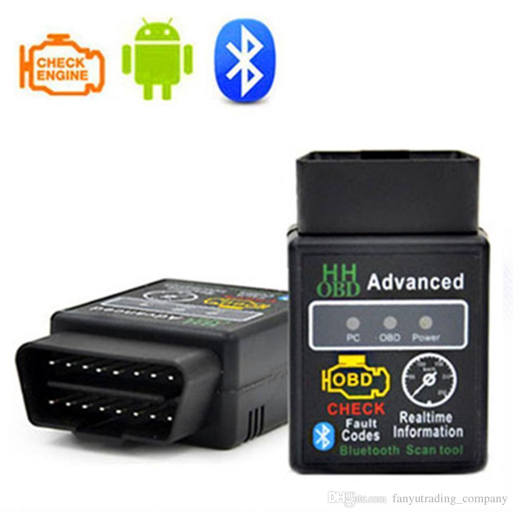 2019 ELM327 V2.1 Bluetooth HH OBD vorgerücktes OBDII OBD2 Mini-ELM327 Selbstautodiagnosescanner-Codeleser-Scan-Werkzeug heißer Verkauf