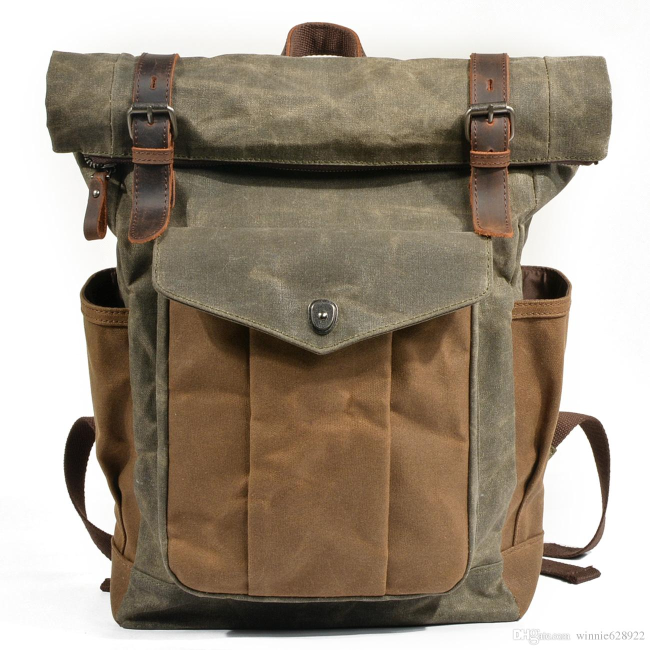 469ad00a1 Cheap Canvas Fishing Backpack Best Bucket Canvas Rucksack Backpack