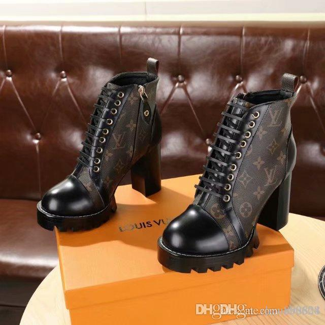 a55a81b7f4adf HOT Luxury Branded Full Leather Women's Boots Designer Style High ...