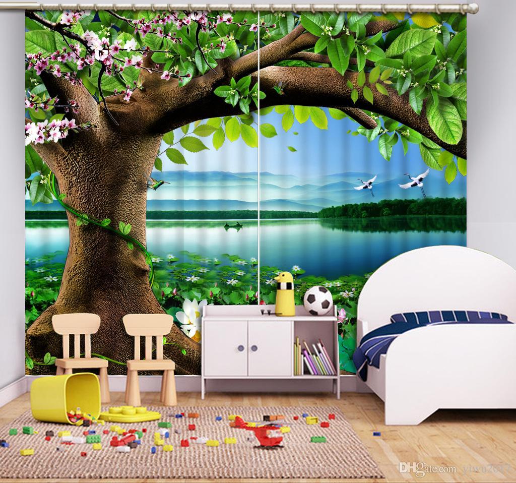 Tende 3D Tende paesaggio HD colorato camera da letto Soggiorno Ufficio Hotel Decorazione tenda finestra