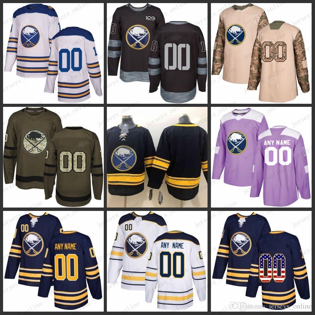 pretty nice 2d29c a6c15 Custom Mens Women Youth Buffalo Sabres 9 Jack Eichel 26 Rasmus Dahlin 53  Jeff Skinner jerseys S-3XL