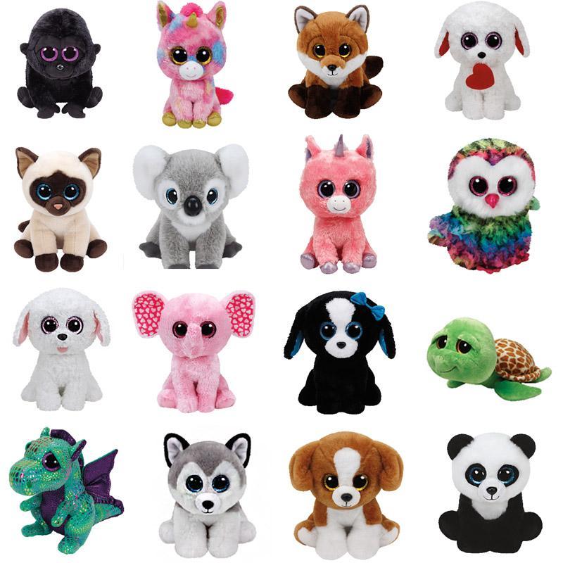 2019 TY BEANIE BOOS 25CM Plush Toys Spencer Dog Slick Fox Tiwggy Owl Flippy  Fish Georger Gorilla Kipper Kangaroo Fantasia Darla D From Starone a4e837b29fe5