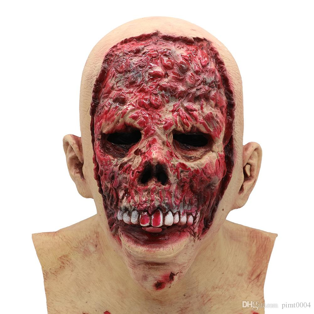 blood skull mask halloween scary mask terror halloween batman party