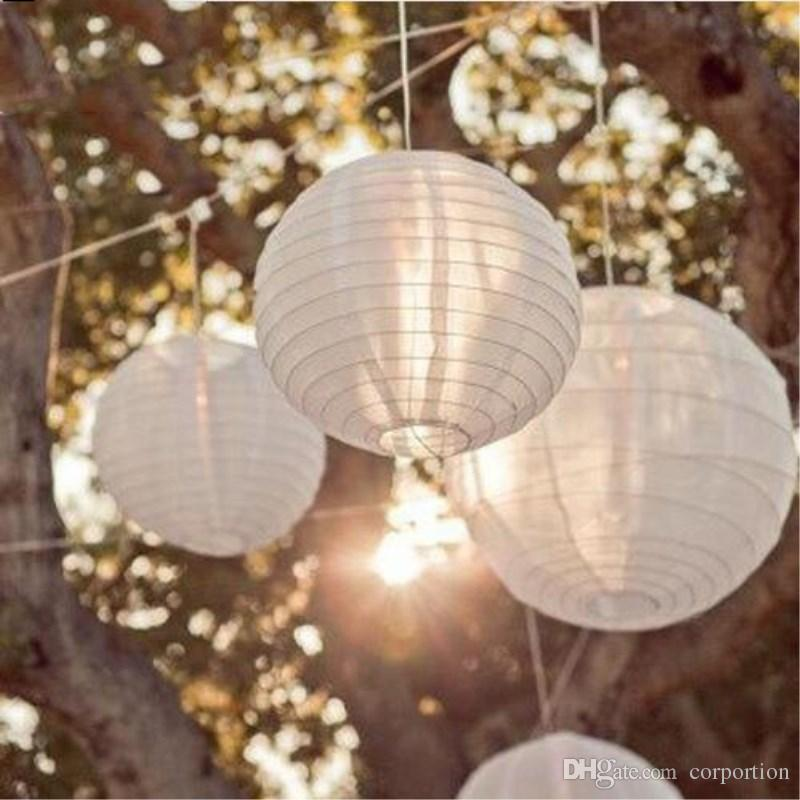 100 Pieces per lot White Chinese Paper Lantern Wedding Children's Birthday Party Baby Shower Hanging Decoration supplies