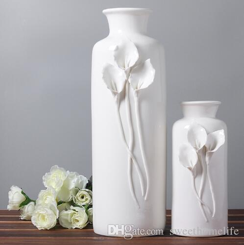 White ceramic fashion creative abstract flower vase pot home decor white ceramic fashion creative abstract flower vase pot home decor craft room decoration handicraft porcelain figurine black vases for sale black vases for mightylinksfo