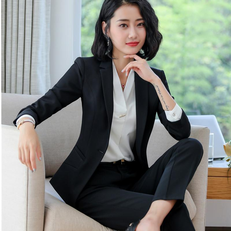 ef119f93c74 2019 New Arrive Two Pieces Set Pant Suits Winter Fashion Formal Long Sleeve  Slim Blazers With Trousers Office Plus Size Work Wear From Beenlo
