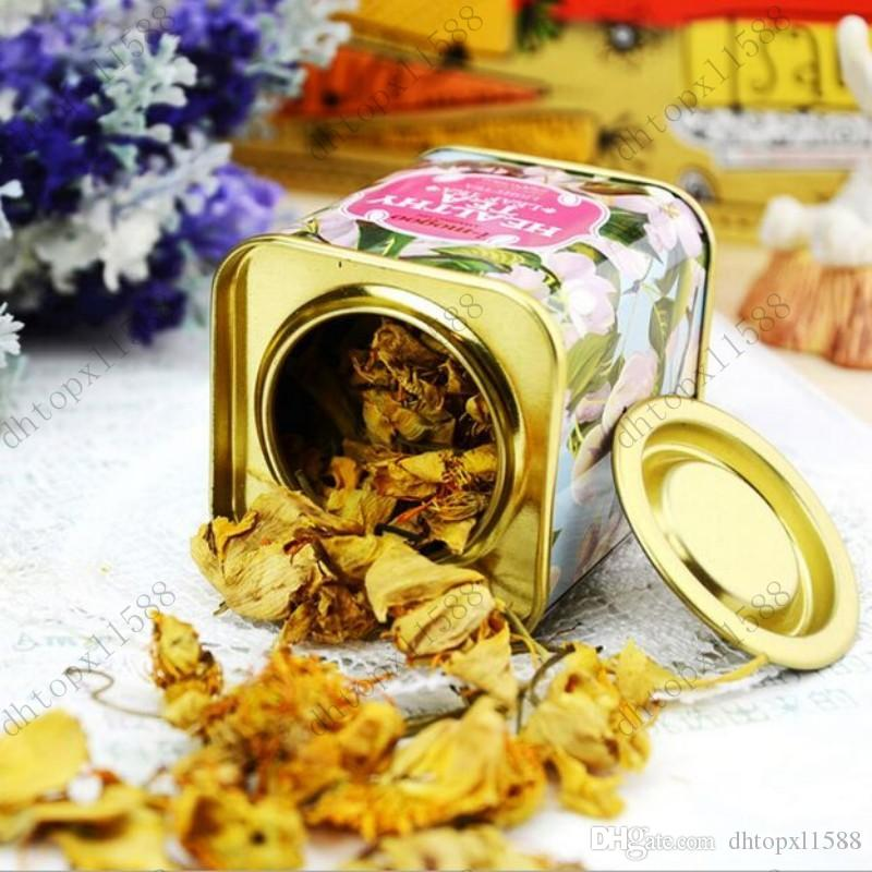 hot Metal Portable vintage Tea Tins Lids Container Gifts Boxes for wedding favor promotion gift package