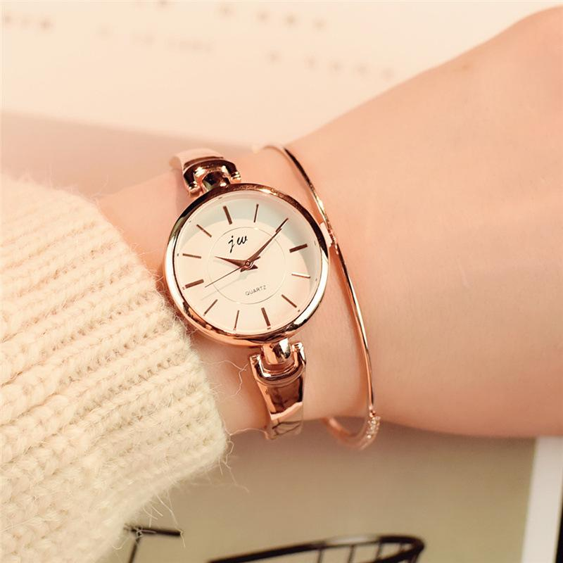 fad005a00 Simple Silver Women Bracelet Watches With Stainless Steel Thin Strap Female  Clock Ladies Quartz Wristwatches Gift Reloj Mujer 21 Wrist Watch Buy Online  ...