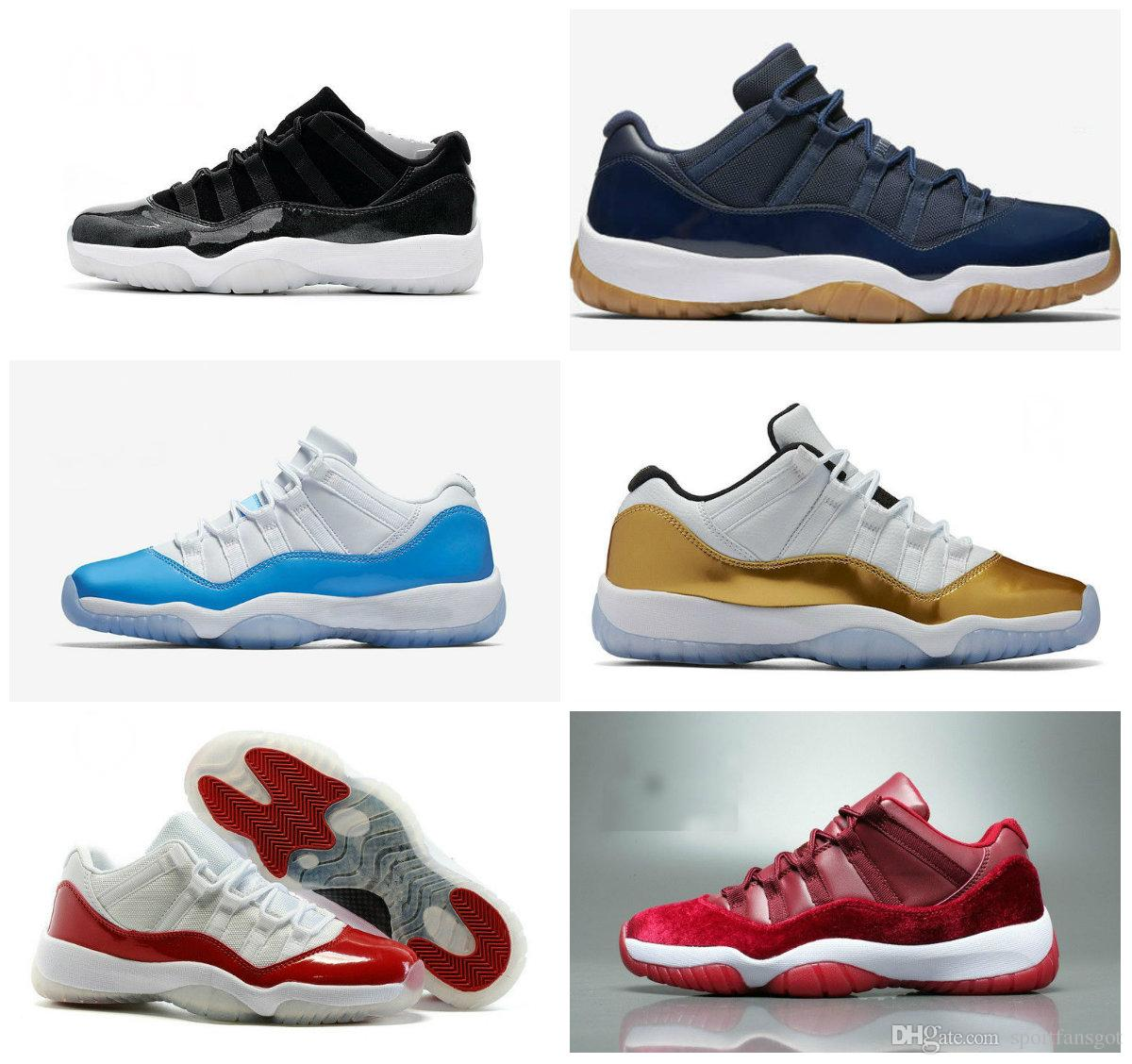e510b16bc1d Retr 11 Low White Red Navy Gum Basketball Shoes Bred Georgetown Space Jam  Citrus GS Basketball Sneakers Women Men 11s Low Athletic XI Shoes Online  Walking ...