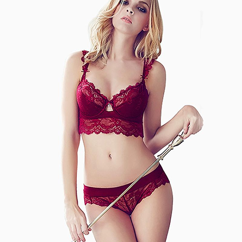 14642253a1721 2019 Red Black Lace Bras Underwear Push Up Bra And Panties Sexy Mousse  Women Sexy Bra Set Ultra Thin Set Cup A B C From Zehanclothing, $15.37 |  DHgate.Com