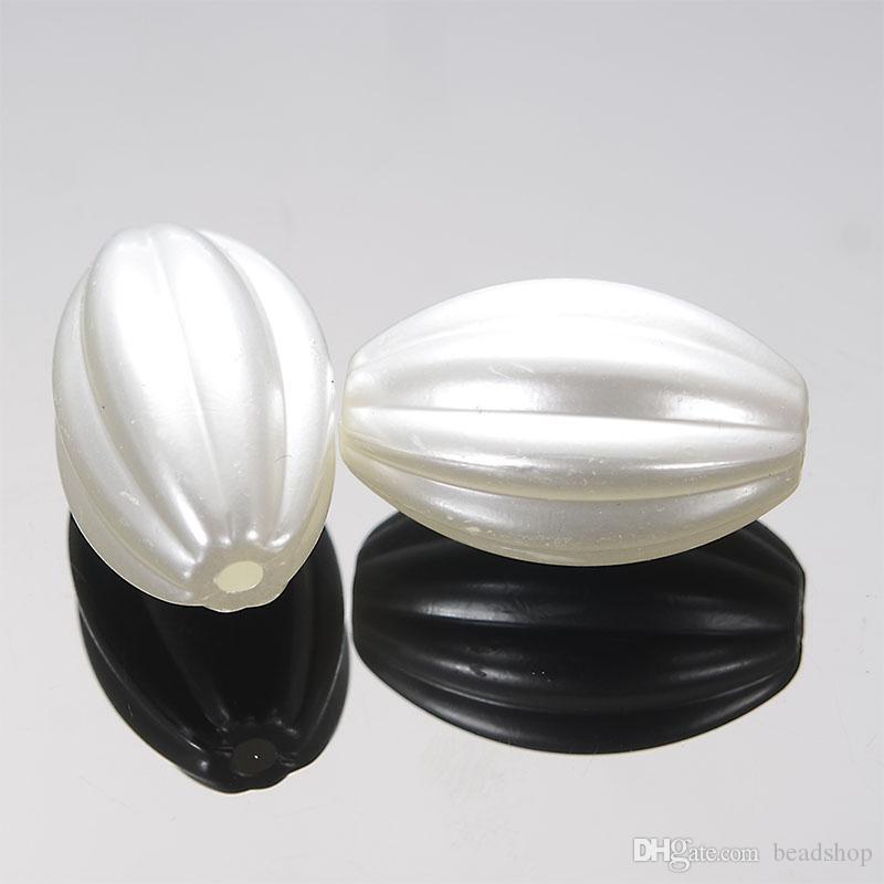 16x24mm Acrylique À Rayures Grand Forme Ovale En Plastique Antique Style Conception Spacer Perles Pour La Fabrication de Bijoux