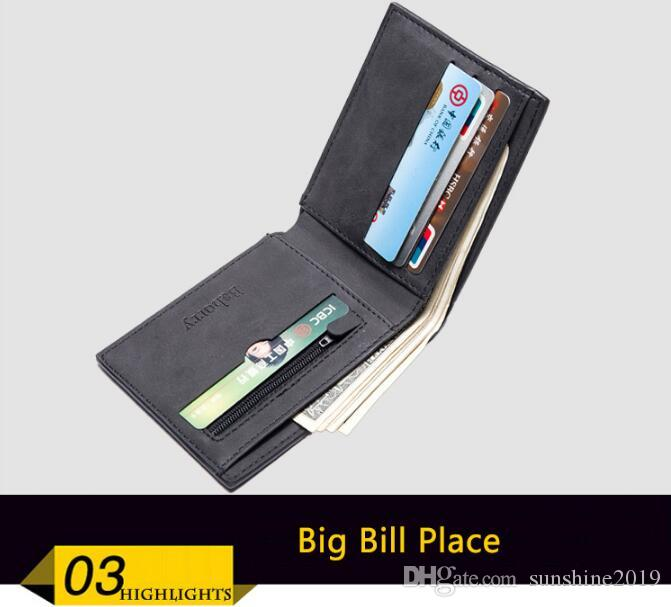 Small Mini Ultra-thin Wallets men Compact wallet Handmade wallet Card Holder Short Design purse Coin Purse Male Wallet Vertical Male Purse