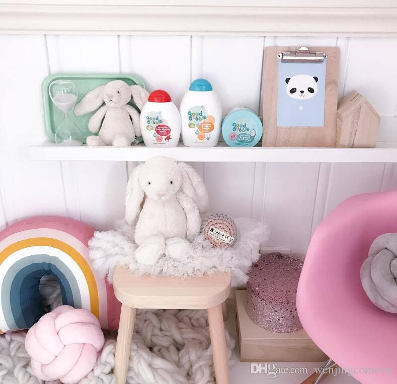 새로운 북유럽 25x35CM 레인보우 베개 어린이 무지개 장난감 소프트 장식 인형 쿠션 만화 아기 베개 장식 보육 룸 장식