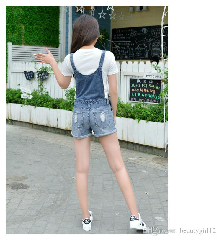 Summer Shorts Women Slim strap Short Jeans Pocket Fashion College Wind Women Shorts S-XXL