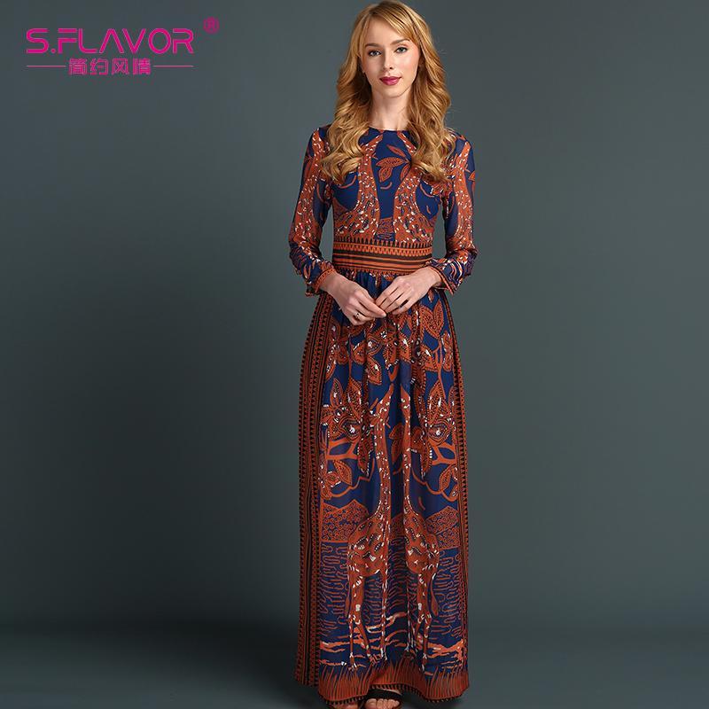 Großhandel X S.Flavor Frauen Chiffon Langes Kleid Heißer Verkauf ...