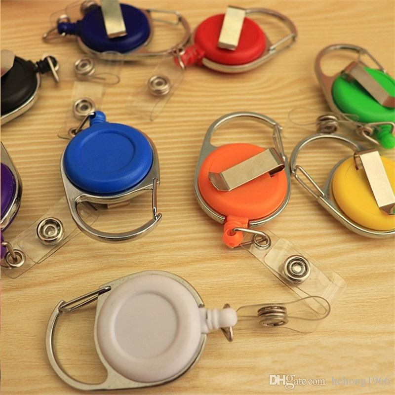 Telescopic Keychain Creative Antitheft Rope Key Ring Retractable Reel Pull Keybuckle ID Card Badge Tag Clip Holder Carabiner Style 1 8gs Y