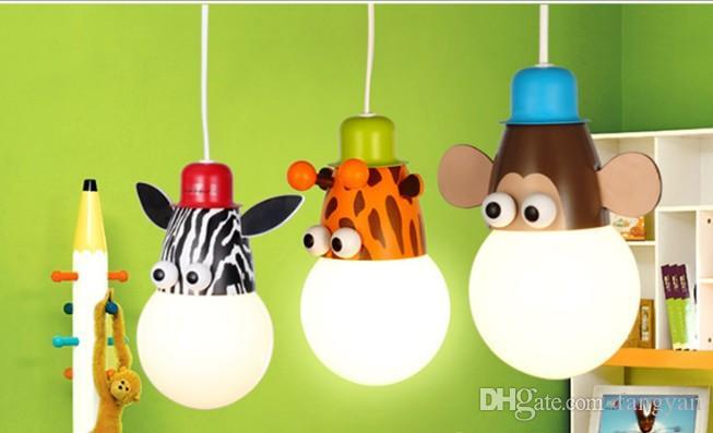 Acheter Enfant Vrai Enfant Plafonnier Lampe Dessin Animé Animal Gradation Lampe Led Enfant Fille Mâle Chambre Lampes De 35 65 Du Fangyan Dhgate Com