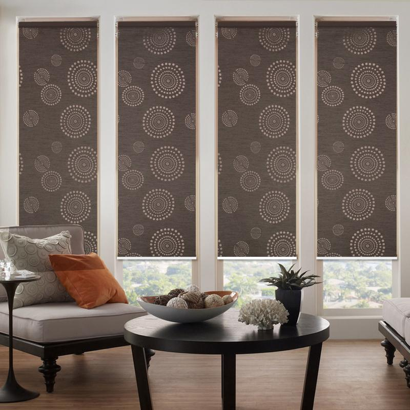 free shipping hot china factory 100% polyester and sunflower color matching  blackout for roller blinds the curtains made to size