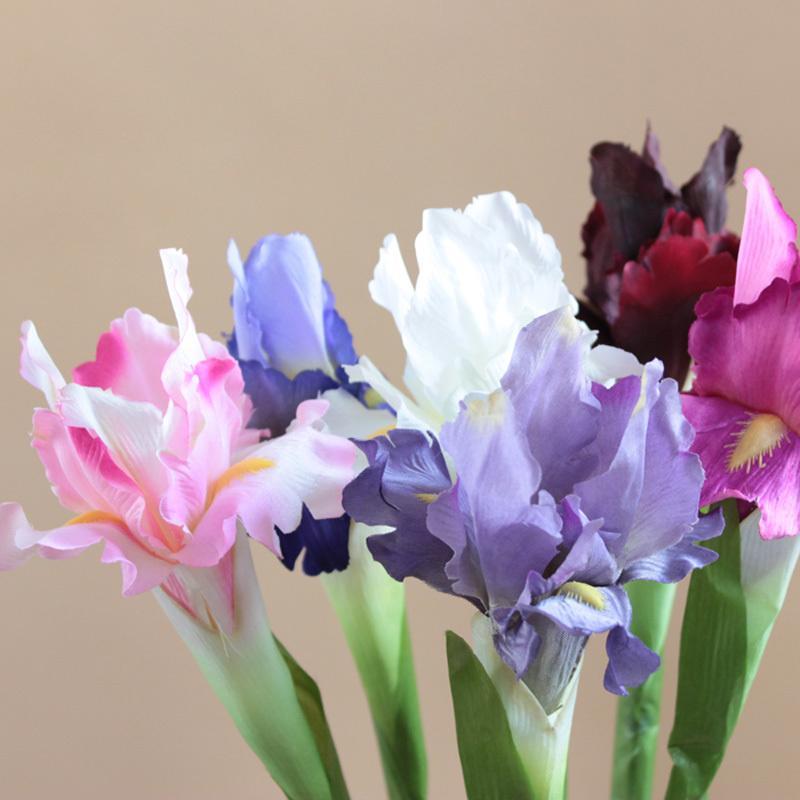 Compre Alta Calidad 68 Cm Flores Artificiales Con Hoja Iris Flores