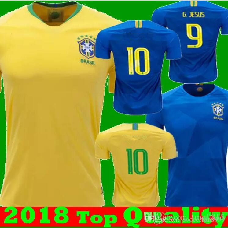b121172b4 2019 2018 World Cup P.COUTINHO Soccer Jersey G.JESUS PAULINHO Mens Football  Jerseys National Team D.COSTA MARCELO Home Away Training Suit From  Soccerfans999 ...