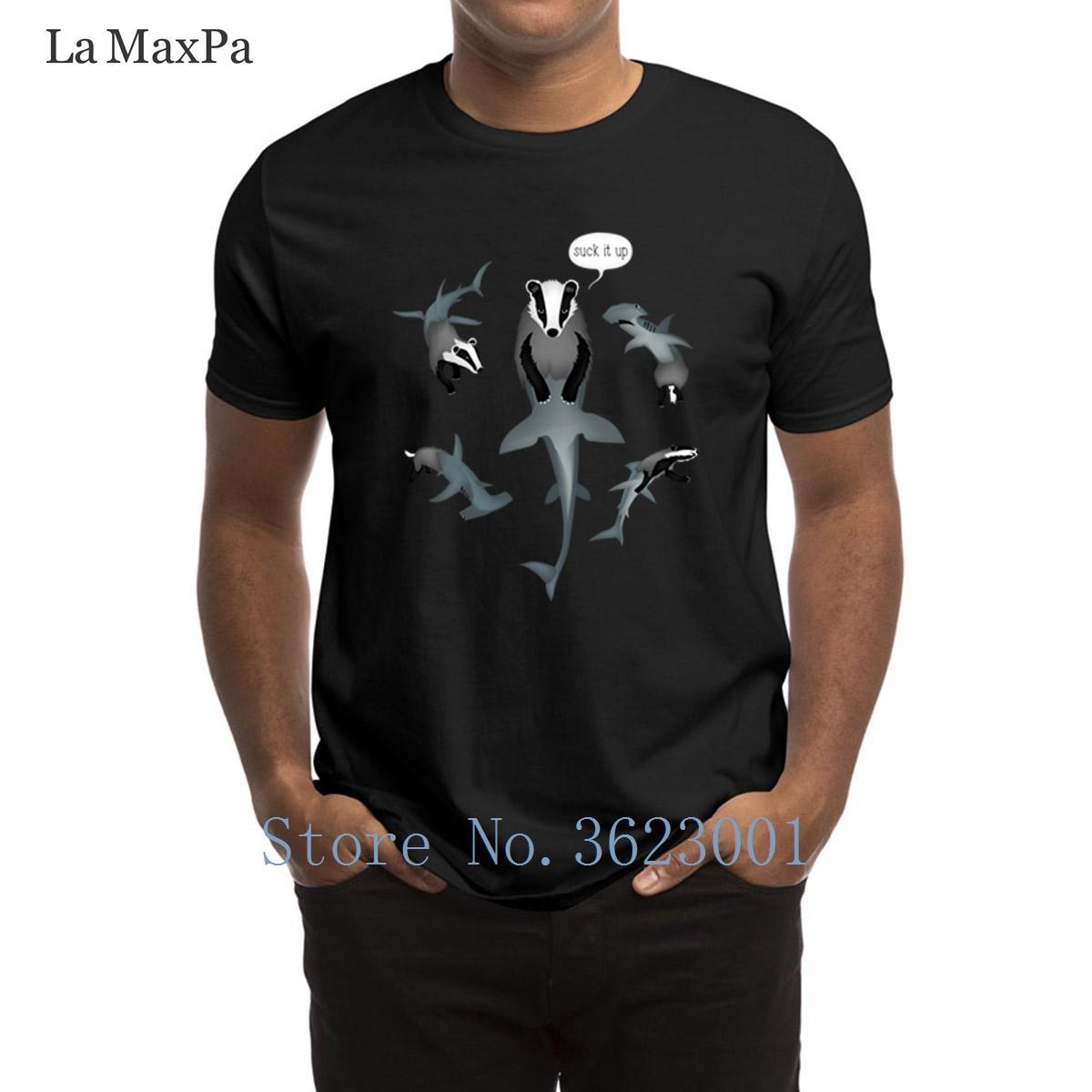Designs Cool T Shirt Badger Shark From Mars Suck It Up T Shirt