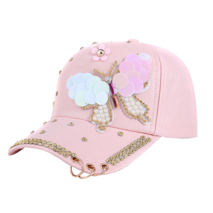 54a3fb694e8566 Women Baseball Cap with Flowers Hip Hop Adjustable Performance Curve ...