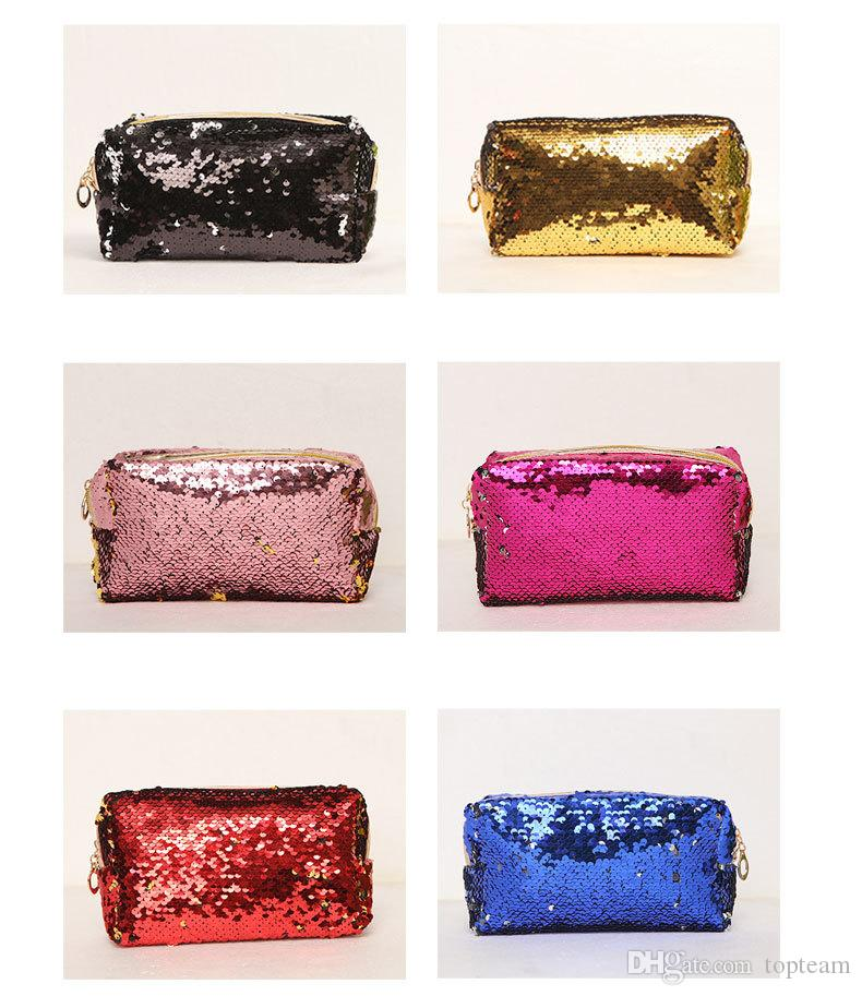 9580063bac 2019 Hot Sale 2018 Explosion Models Printed Makeup Bag Creative New Mermaid  Sequin Makeup Bag Hand Zipper Fashion Bag Waterproof Lady Purse From  Topteam