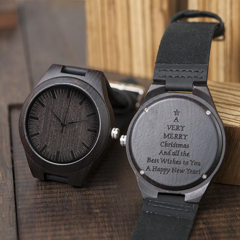 72836f437b0f Personalized Watches Men Christmas Gifts New Year Great Engraving Watch For  Dad Accept Custom Messages Drop Shipping Best Deals On Watches Best Deal On  ...