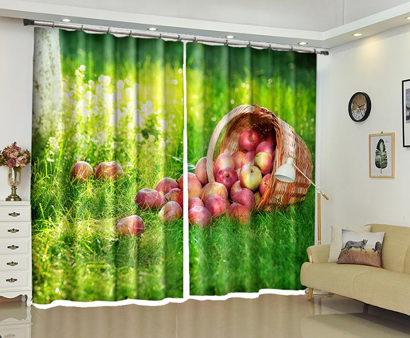 Incredible Apple 3D Kitchen Window Curtains Drapes For Bedroom Living Room Decoration Hotel Office Cortinas Para Sala Dormitorio Rideaux Download Free Architecture Designs Scobabritishbridgeorg