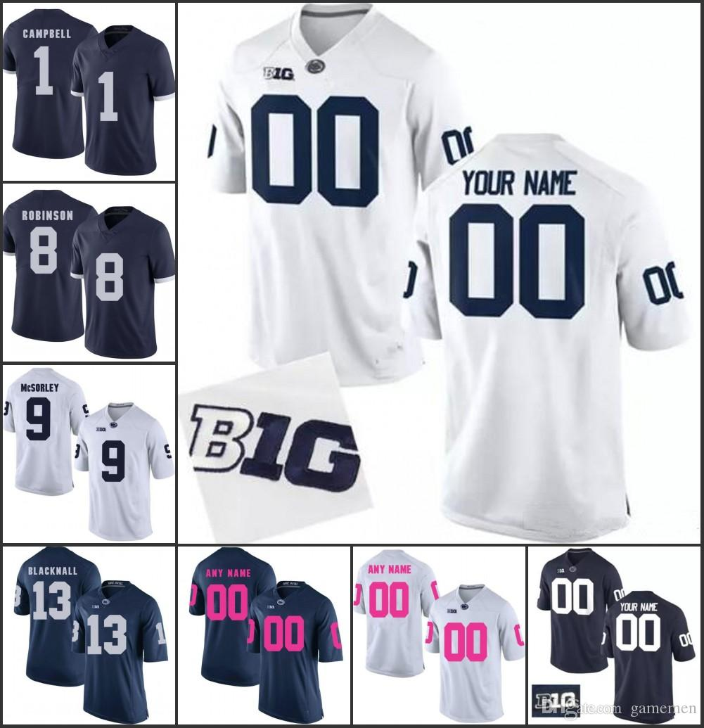 2019 Custom Penn State Nittany Lions College Football Jersey Mens Women  Youth Any Name Any Number Stitched Personalized Jerseys 26 Saquon Barkley  From ... 21d526c72