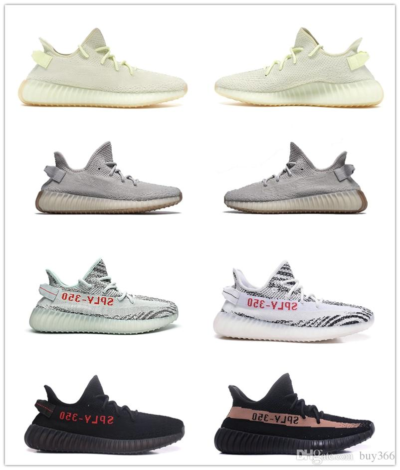 70b54870afc7b 350 V2 Clay Butter Esame Sneaker Blue Tint Semi Frozen Yellow Beluga 2.0  Grey Orange Zebra Oreo Black Bred Red Running Shoes Jogging Shoes Sale Shoes  From ...