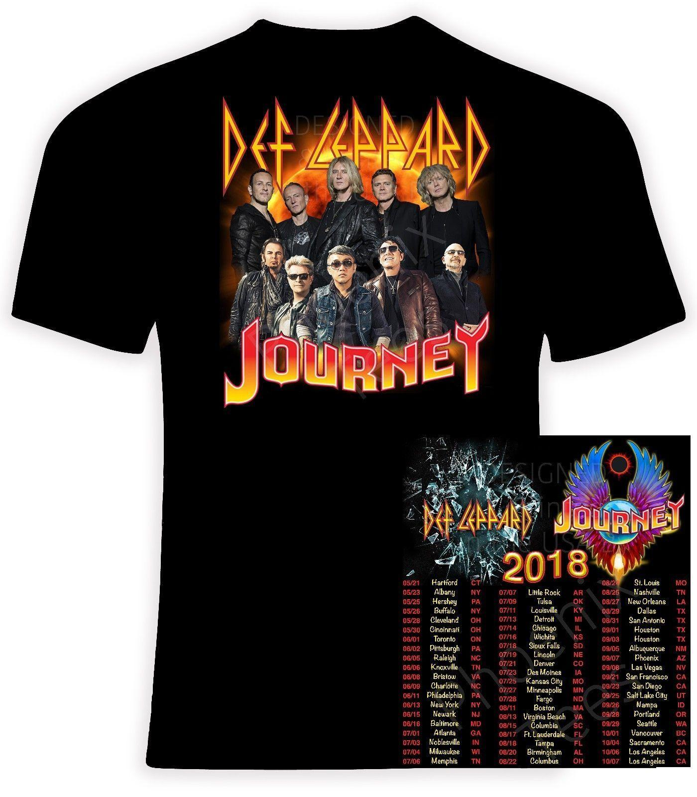 Def Leppard And Journey 2018 T Shirt Men Women Tee T Shirt New Tee