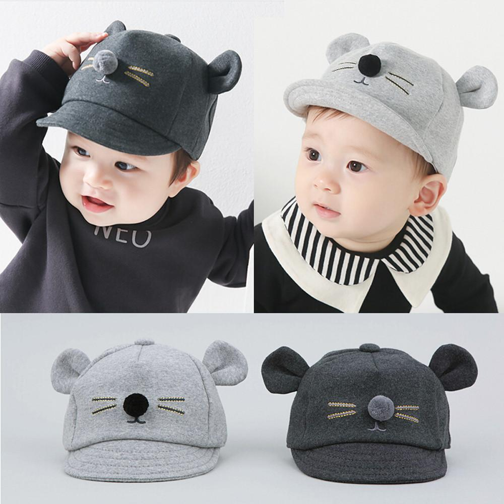 2018 Hot Infant Hats For Baby Girls Boys Autumn Caps Kids Baby Bear Ear Baseball  Cap Cotton Boy Hats Peaked Hat UK 2019 From Ferdimand 4a3a1e85f94a