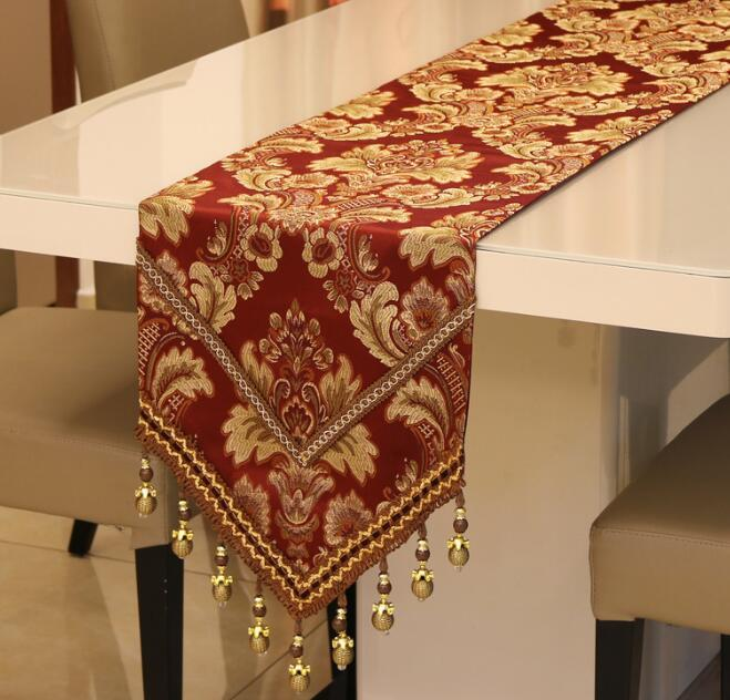 Luxury Table Runner Tables Cloth Wedding Kitchen Utensils Christmas