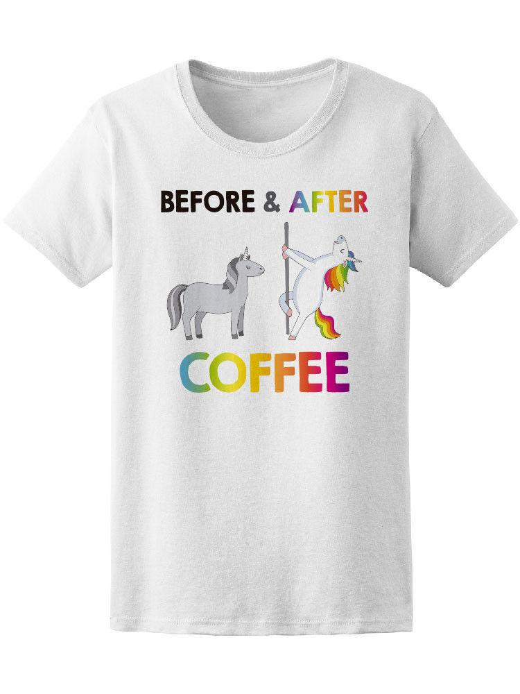 9b930792 Funny Unicorns Before Coffee Women'S Tee Image By Shutterstock Novelty Cool  Tops Men Short Sleeve Tshirt This T Shirt T Shirts Best From Carenthusiast,  ...