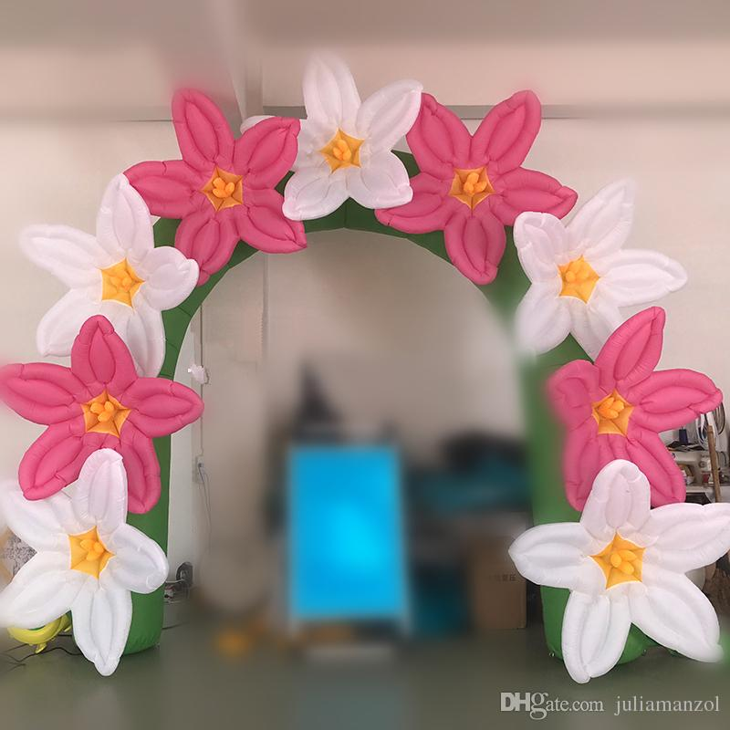 2018 33m inflatable flower arch pink and white inflatable flower 2018 33m inflatable flower arch pink and white inflatable flower from juliamanzol 27136 dhgate mightylinksfo