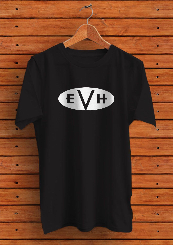 fa5f7fc0712 EVH Guitars Amps Logo T Shirt Custom Shirt Awesome Shirt Designs Funny  Slogan T Shirts From Xm25tshirt