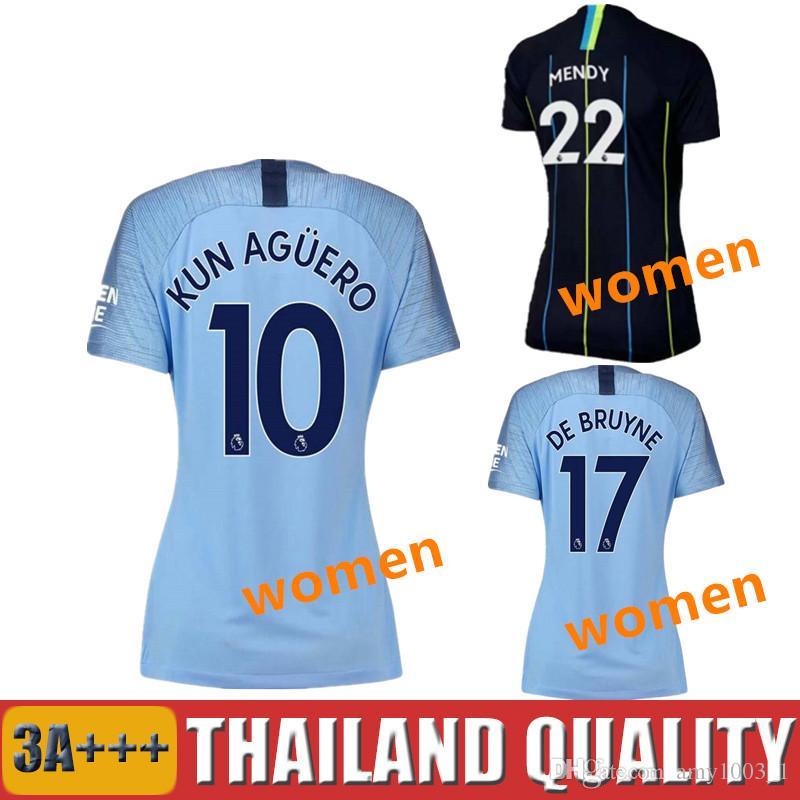 Women 18 19 G JESUS MAHREZ Soccer Jerseys 2018 2019 De Bruyne KUN ... 8fca7666b