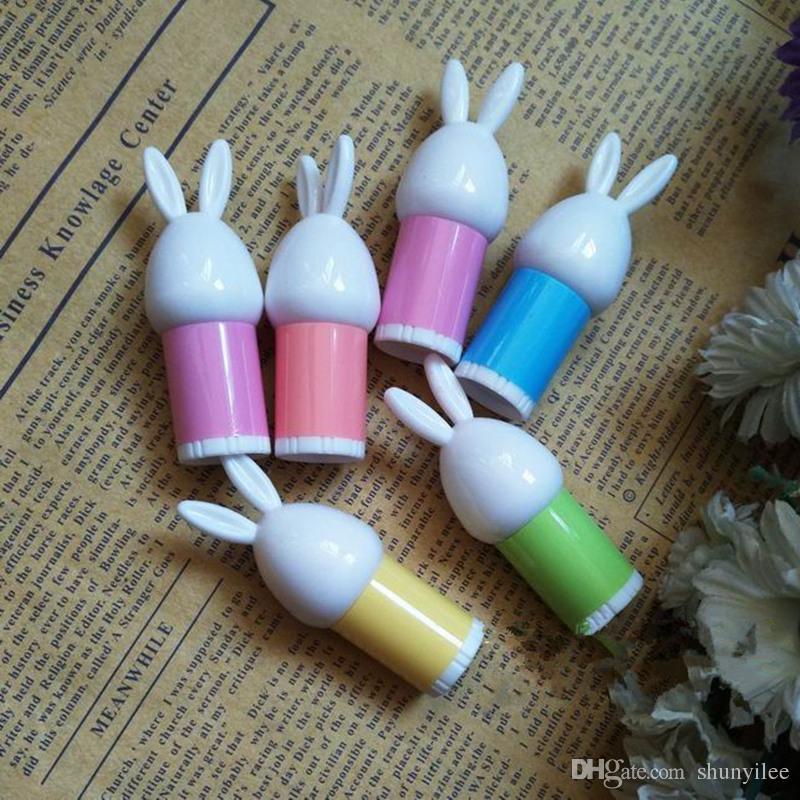 MINI Sevimli Tavşan Karikatür Ruj Tüp Makyaj Aracı Ev Yapımı Boş Dudak Balsamı Tüp Doldurulabilir Şişeler hızlı kargo F171