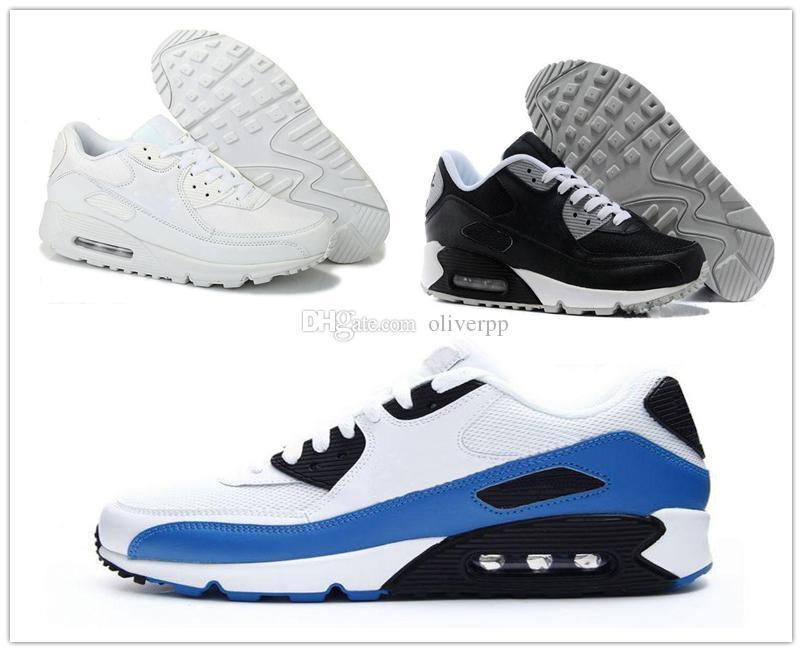 quality design 20238 0db68 Acheter Nike Air Max Airmax 90 Nouveaux Hommes Femmes Chaussures Classique  90 Hommes Et Femmes Chaussures De Course Noir Rouge Blanc Sport Entraîneur  Air ...