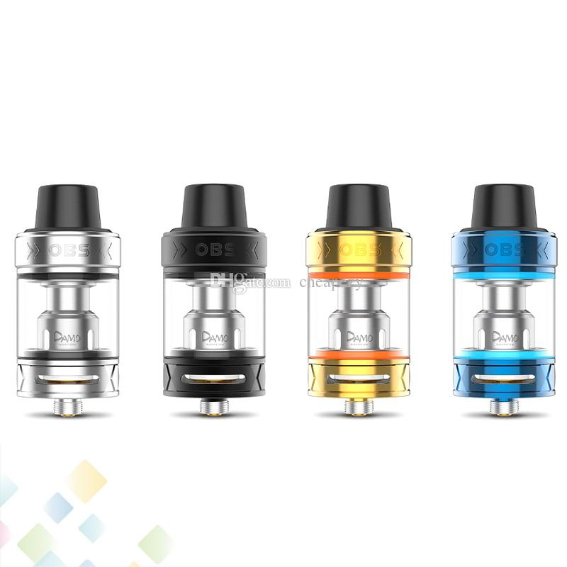 Original OBS Damo Subohm Tank 5ml with Vape M2 and M6 Coils Anti-leak Base Design Pull-up Top Refill System Atomizer Ecig DHL Free