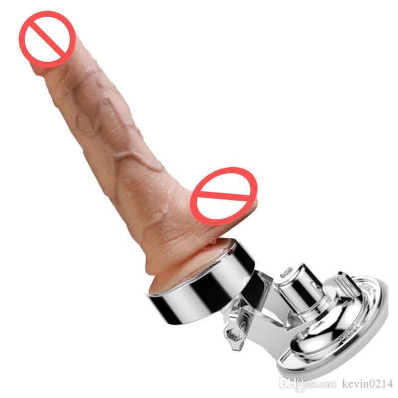 Titreşimli Dildos Eller-Serbest Vantuz ile Otomatik Teleskopik Thrusting Isıtma Salıncak Sihirli Değnek Gerçekçi Penis Dildos Dongs C3-106