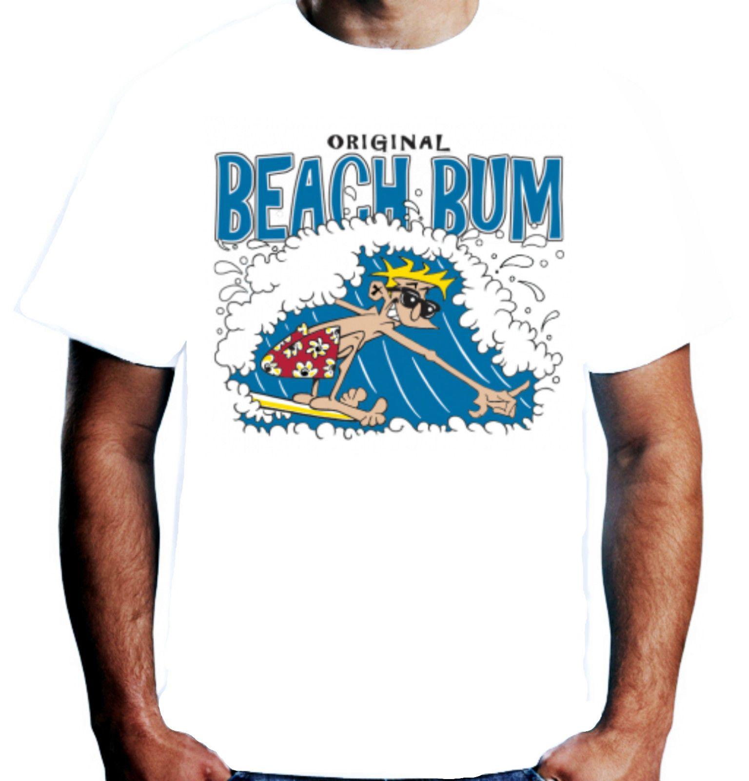 0f178eab5 Velocitee Mens Original Beach Bum T Shirt Dude Holiday Surfer Surfing  W10517 Vintage T Shirts Band T Shirts From Orangeshirt, $10.5  DHgate.Com