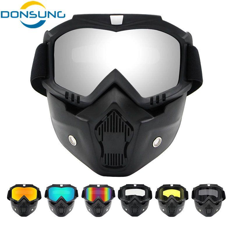 09600f876e13f Compre Homens Máscara De Ciclismo Esqui Snowboard Máscara De Esqui De  Inverno Snowmobile À Prova De Vento Óculos De Esqui Óculos De Sol De  Motocross Com ...