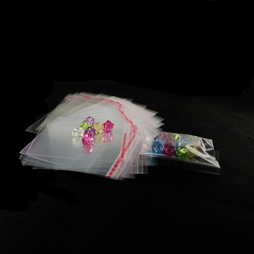 No Hole Clear Transparented Resealable 6x8cm Self Adhesive Plastic Packaging OPP BOPP/Poly/Cellophone Jewelry Gift Bag