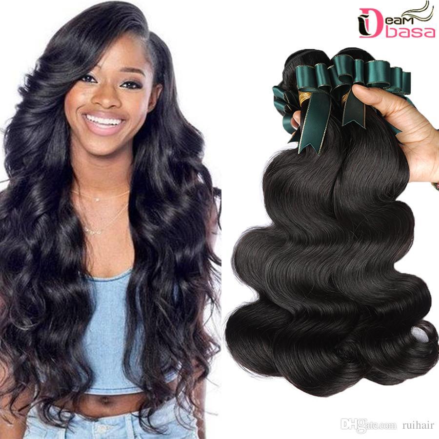 c794538e9 Wholesale Brazilian Hair Extensions Body Wave Dyeable Natural Color  Peruvian Malaysia Indian Virgin Hair Bundles Body Wave Human Hair Weave  Cheap Human Hair ...