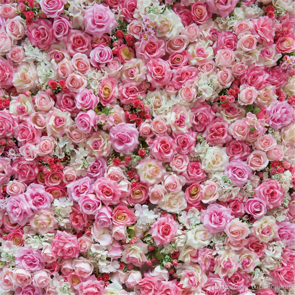 Spring Blossoms Pink Rose Backgrounds For Photo Studio Digital